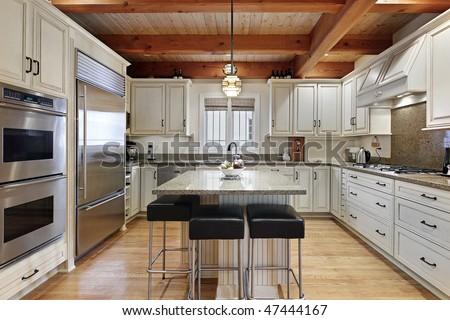 Modern Kitchen Center Island Stock Photo 47444167 - Shutterstock