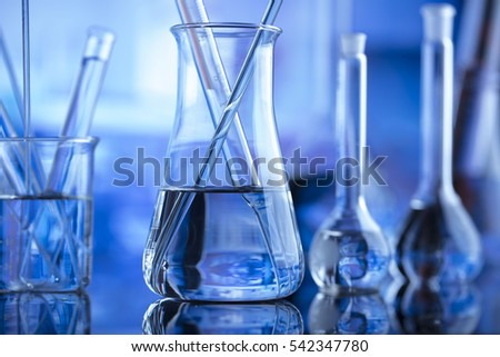 Modern laboratory concept. Place for typography and logo. Nice bokeh.