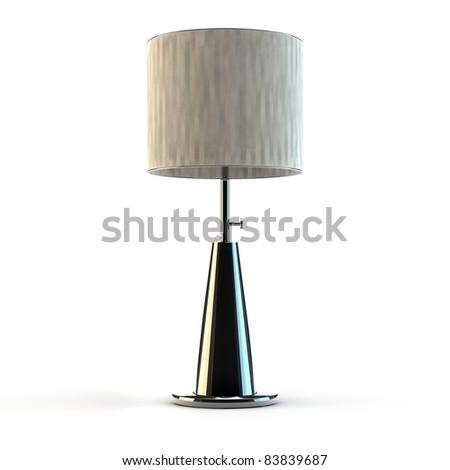 Modern lamp made of aluminium - stock photo