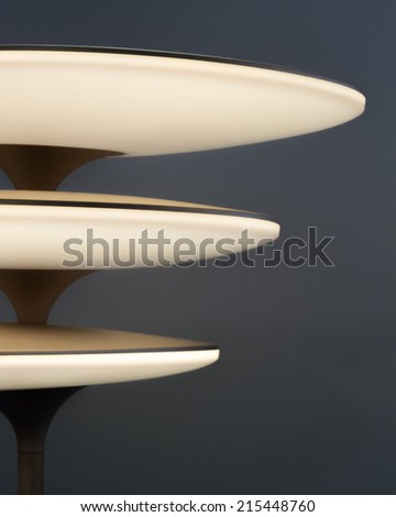 Modern lamp on gray background