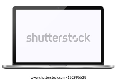 Modern laptop isolated on white background