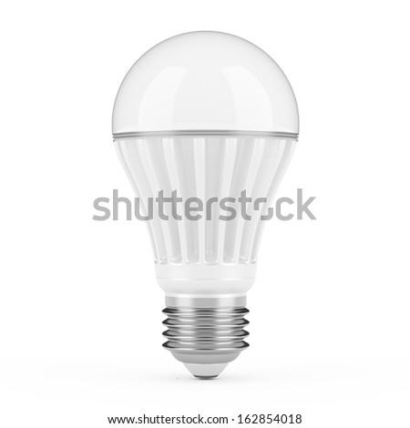 Modern LED lamp isolated on white background. - stock photo