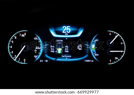 Car Indicator Stock Images RoyaltyFree Images Vectors - Car signs on dashboardcar dashboard signs speedometer tachometer fuel and temperature