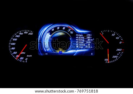 Mph Stock Images RoyaltyFree Images Vectors Shutterstock - Car signs on dashboardcar dashboard signs speedometer tachometer fuel and temperature