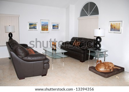Modern living room. - stock photo
