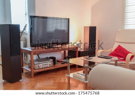 Watching Soccer Game On Tv Stock Photo 106521212