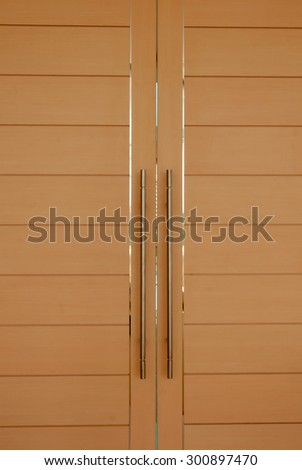 Modern living room door - stock photo