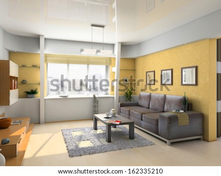 Modern living room interior
