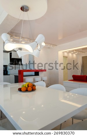 Modern living room interior nobody. - stock photo