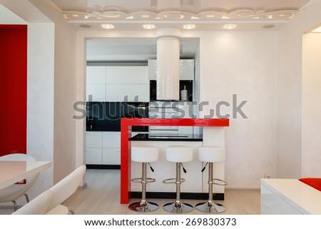 Modern Living Room Interior Nobody