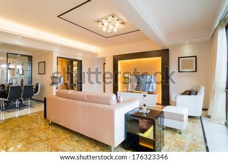 Modern living room nice decoration stock photo 176323346 for Nice modern living rooms