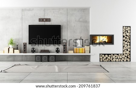 Modern Living Room With Fireplace living room fireplace stock images, royalty-free images & vectors