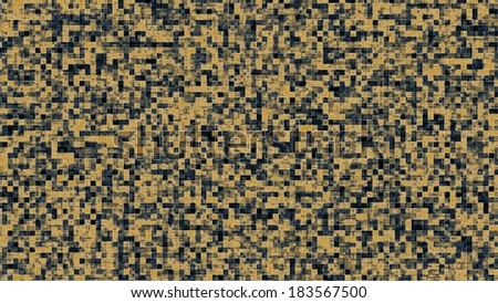 Modern looking background with squares texture resembling a data flow. Blue and yellow squares creating a cold and warm contrast feeling. - stock photo
