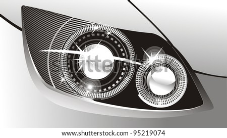 modern luminescent lamp design of a  car