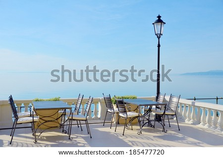 Modern luxurious hotel resort near sea - stock photo
