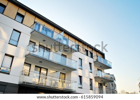 modern luxury apartment building