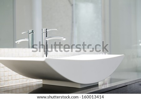 Modern luxury bathroom  - stock photo