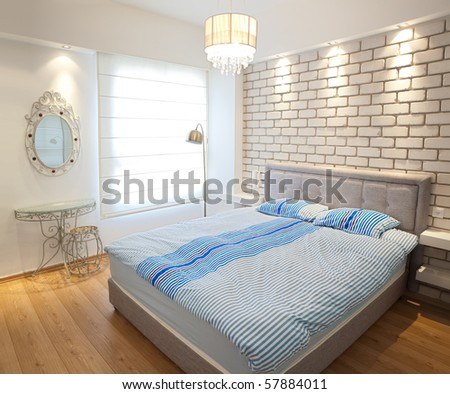 Modern luxury  bedroom  /  Hotel Room - stock photo
