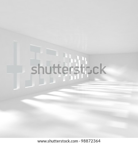 Modern Luxury Interior - 3d illustration - stock photo