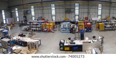 modern manufacture factory - stock photo