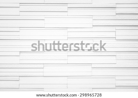 Modern marble tile wall : Granite tiled wall detailed pattern texture background in light white color tone with vignette - stock photo