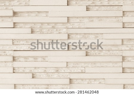 Modern marble tile wall : Granite tiled wall pattern texture background in light beige brown color tone - stock photo