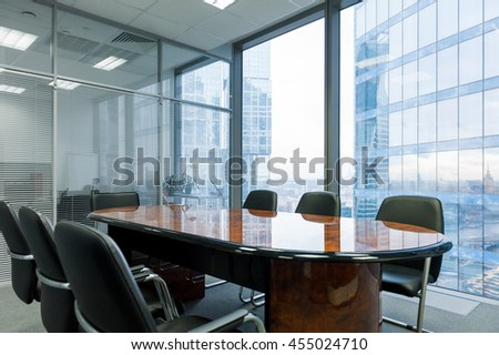 Modern meeting room in the office. Nobody - stock photo