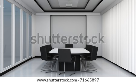 Modern meeting room interior - stock photo