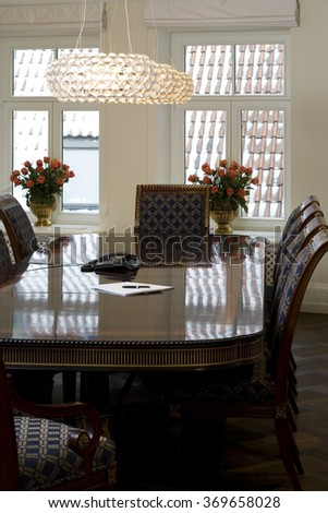Modern meeting room interior in office. - stock photo