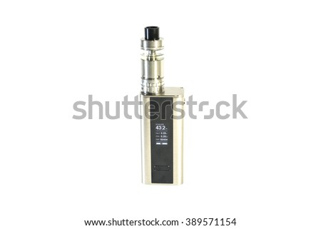 Modern Metal Electronic Cigarette E-cig Vaporizer Tobacco Alternative - stock photo