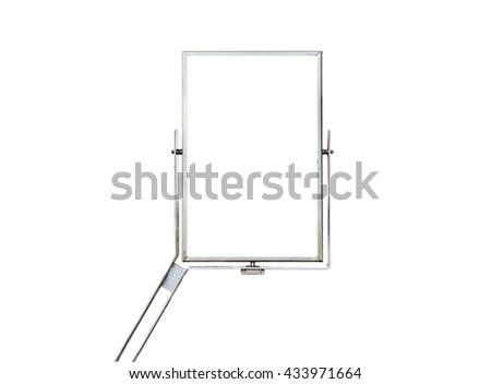 modern metal sign board isolated on white background - stock photo