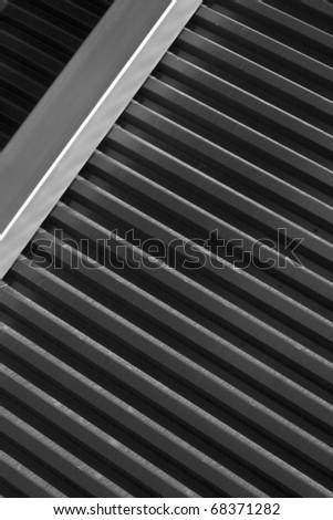 modern metal wall - stock photo