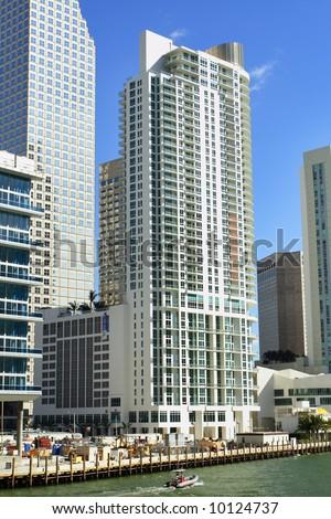 Modern Miami Buildings - stock photo