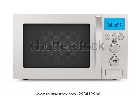 Modern Microwave Oven on a white background - stock photo