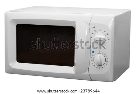 Modern microwave stove isolated on white background
