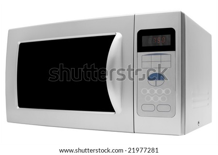 Modern microwave stove on a white background - stock photo