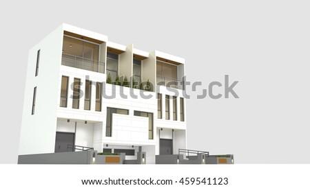 Buschman Set of Two White EamesStyle Mid Century Modern