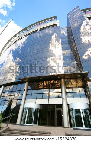 modern mirrored building - stock photo