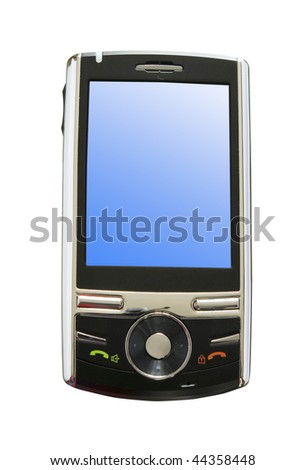 Modern  mobile isolated over white - stock photo