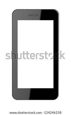 modern mobile phone - stock photo