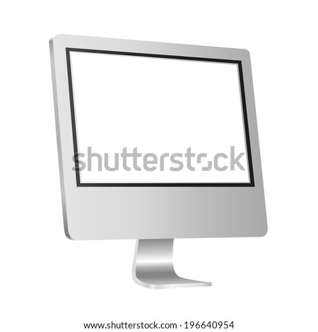 modern monitor isolated on white background