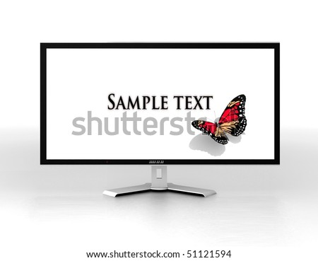 Modern monitor isolated on white. 3d illustration