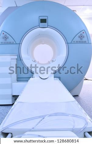 Modern MRI machine. - stock photo