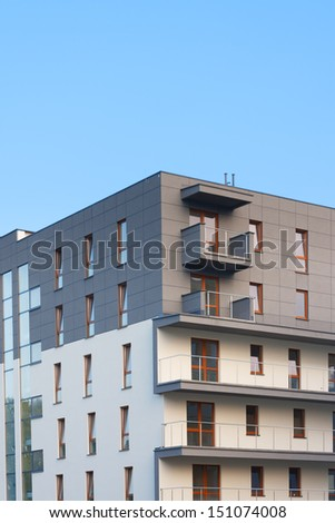Modern multistoried and stylish living block of flats