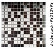 Modern natural marble and granite mosaic tile. - stock photo