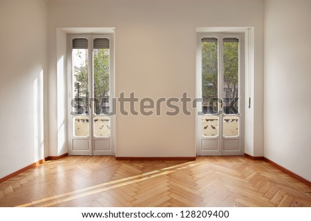Modern new empty apartment room - stock photo