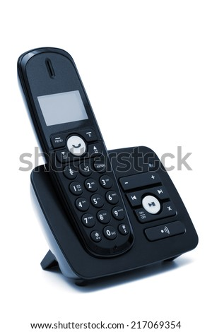 Modern new phone on a white background - stock photo