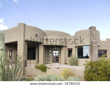 Modern new south west home - stock photo