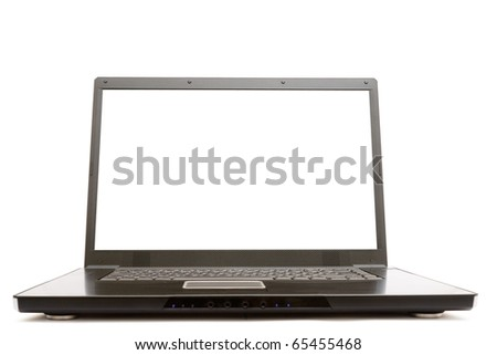Modern notebook computer isolated over white