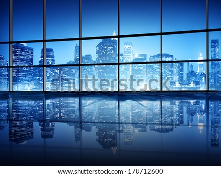 Modern NYC Interior Architecture - stock photo